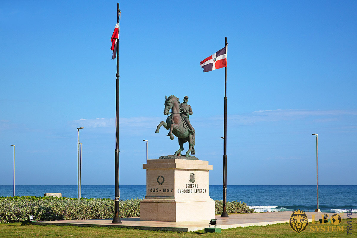 Statue of Gregorio Luperon in Puerto Plata, Dominican Republic