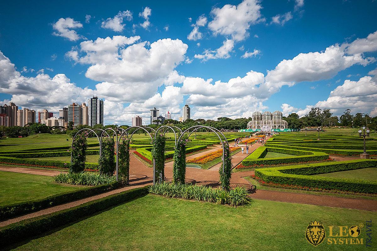 Image of the Botanical garden in Curitiba, Brazil