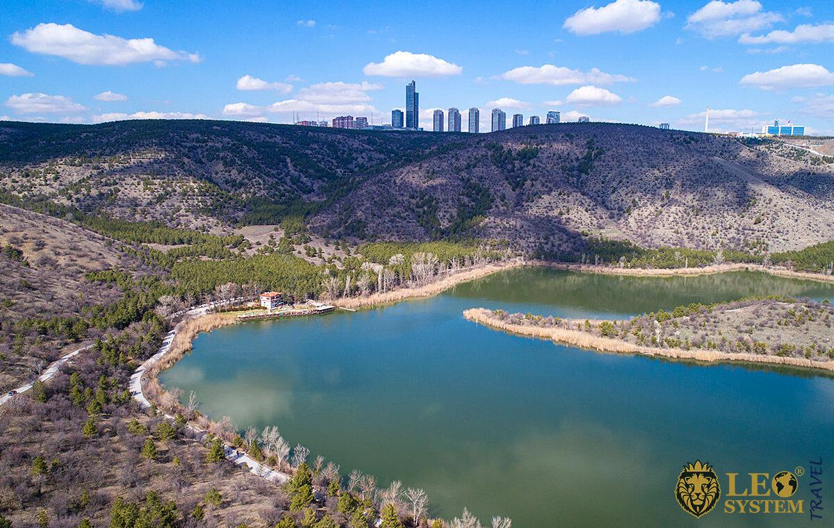 View of the Lake Eymir in Ankara, Turkey