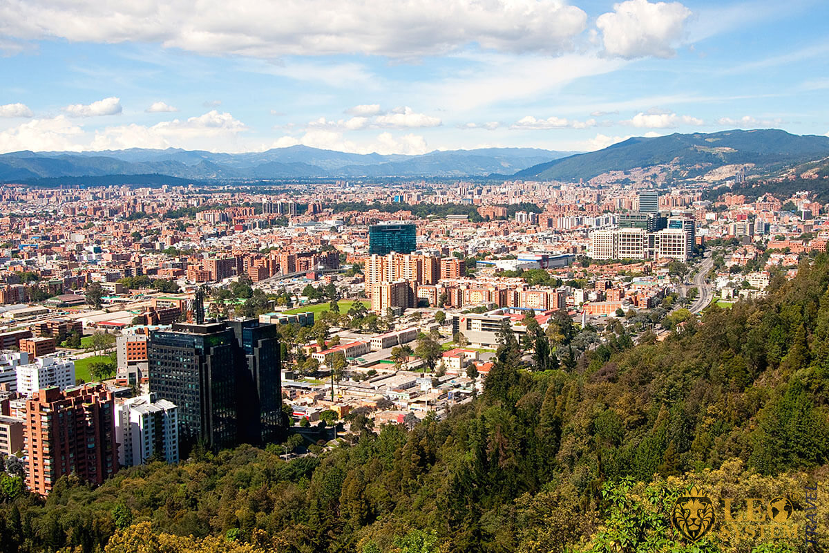 Magnificent view of the city of Bogota