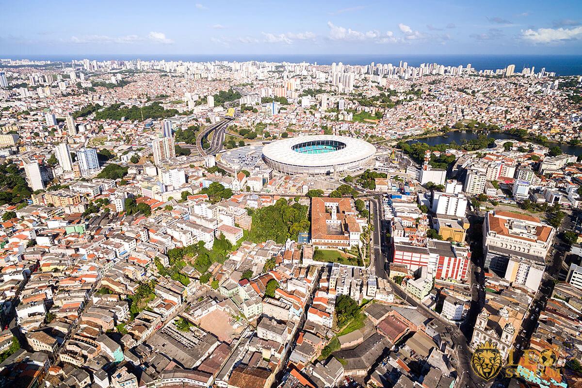 Aerial view of Salvador, Brazil