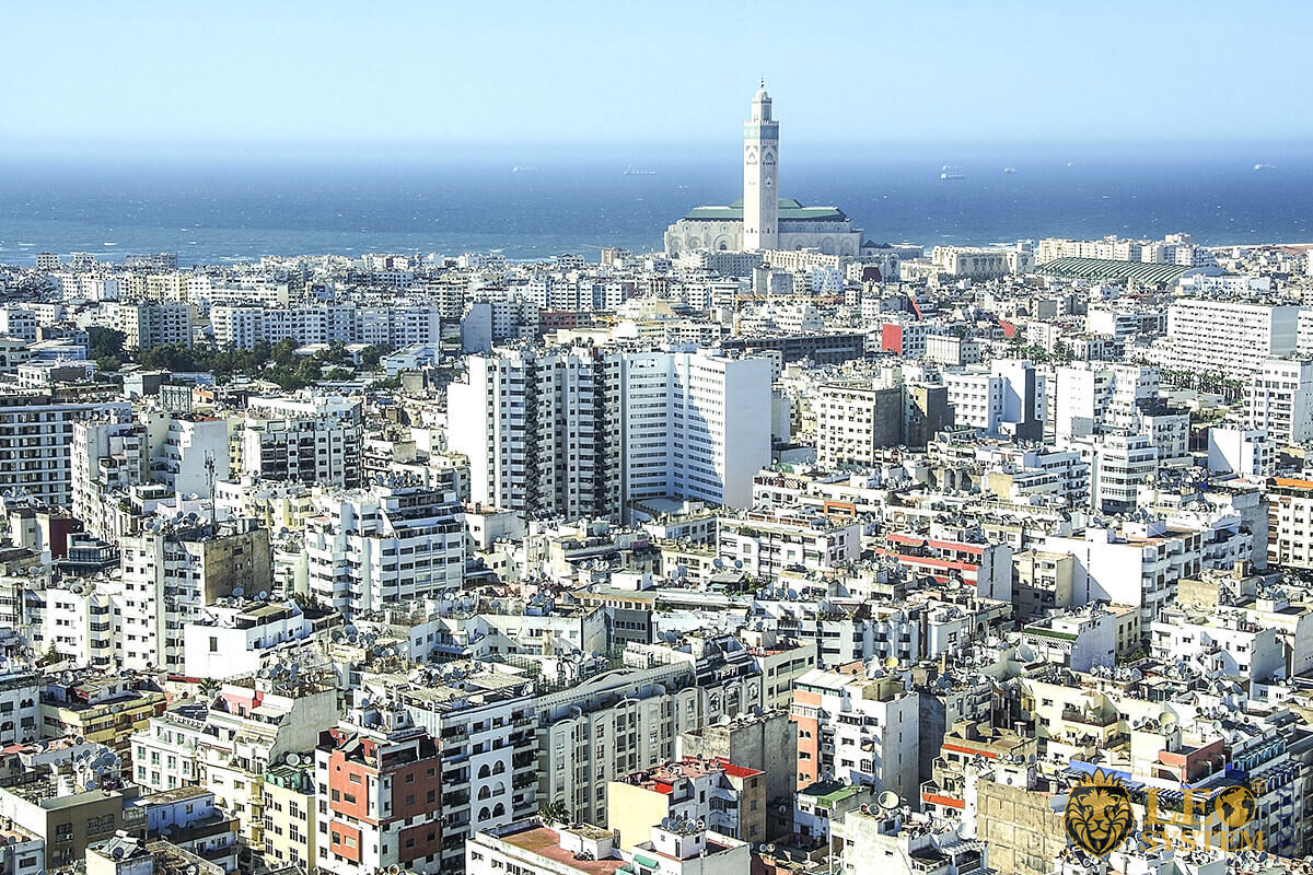 Panoramic view of the city of Casablanca