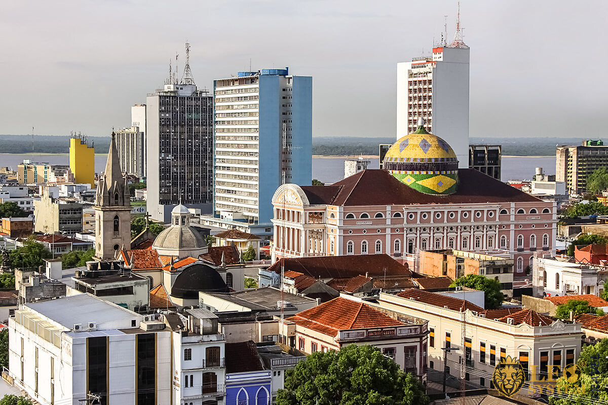 Image of the central part of the city of Manaus in Brazil