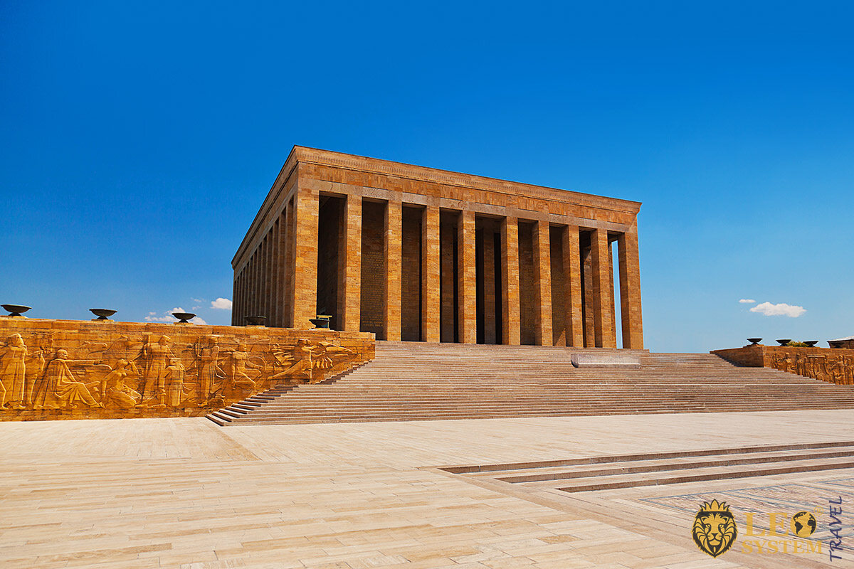 Image of Anitkabir is the mausoleum of Mustafa Kemal Ataturk, Ankara, Turkey