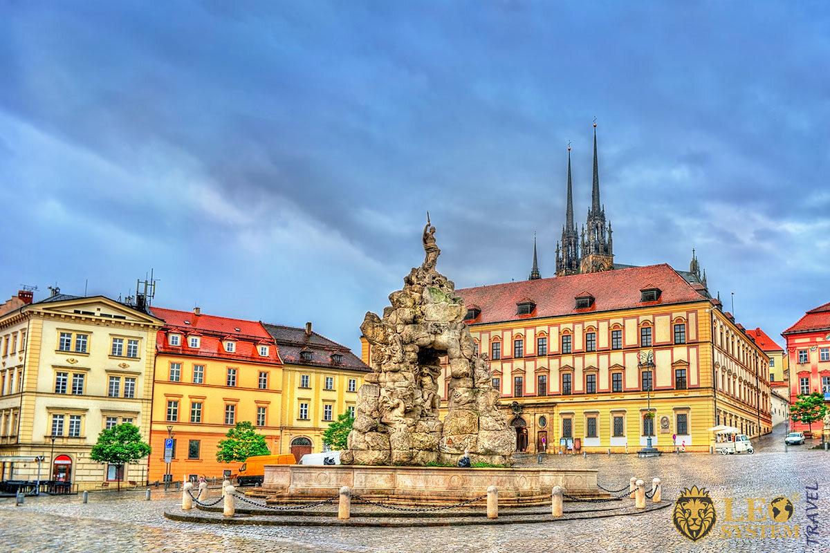 Image of Parnas Fountain, old city of Brno, Czech Republic