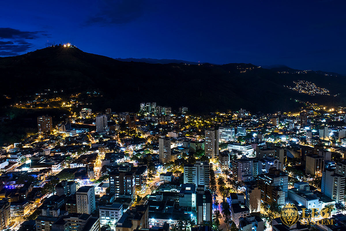 Night view of the city of Cali, Colombia