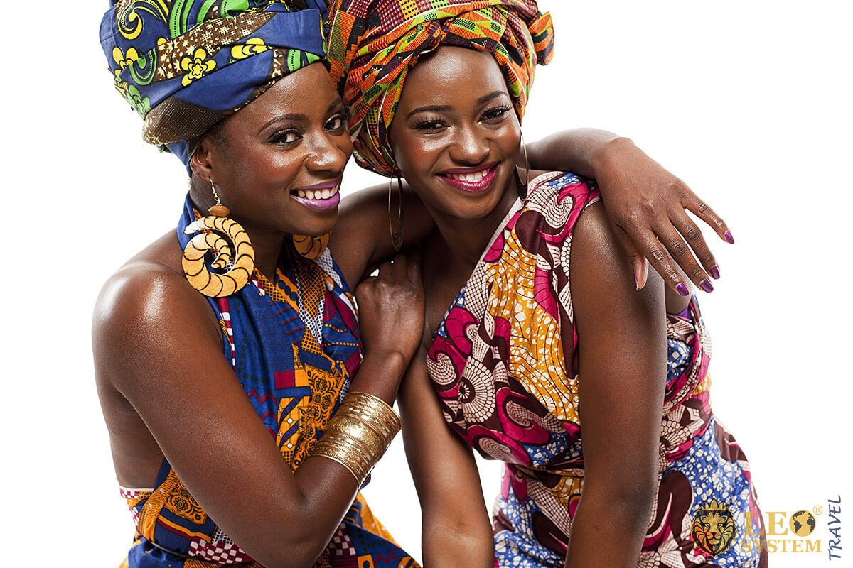 Image of two attractive African women