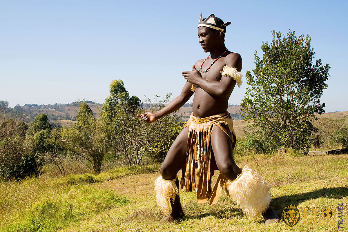 Image of African man from the tribe