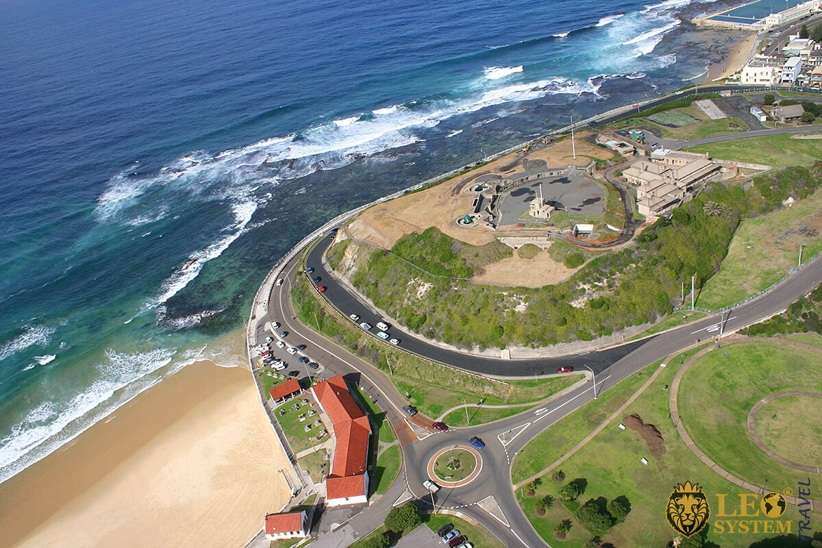 Aerial view of Fort Scratchley, Newcastle, Australia