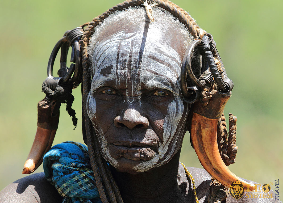 Gaze of person from a tribe in Africa