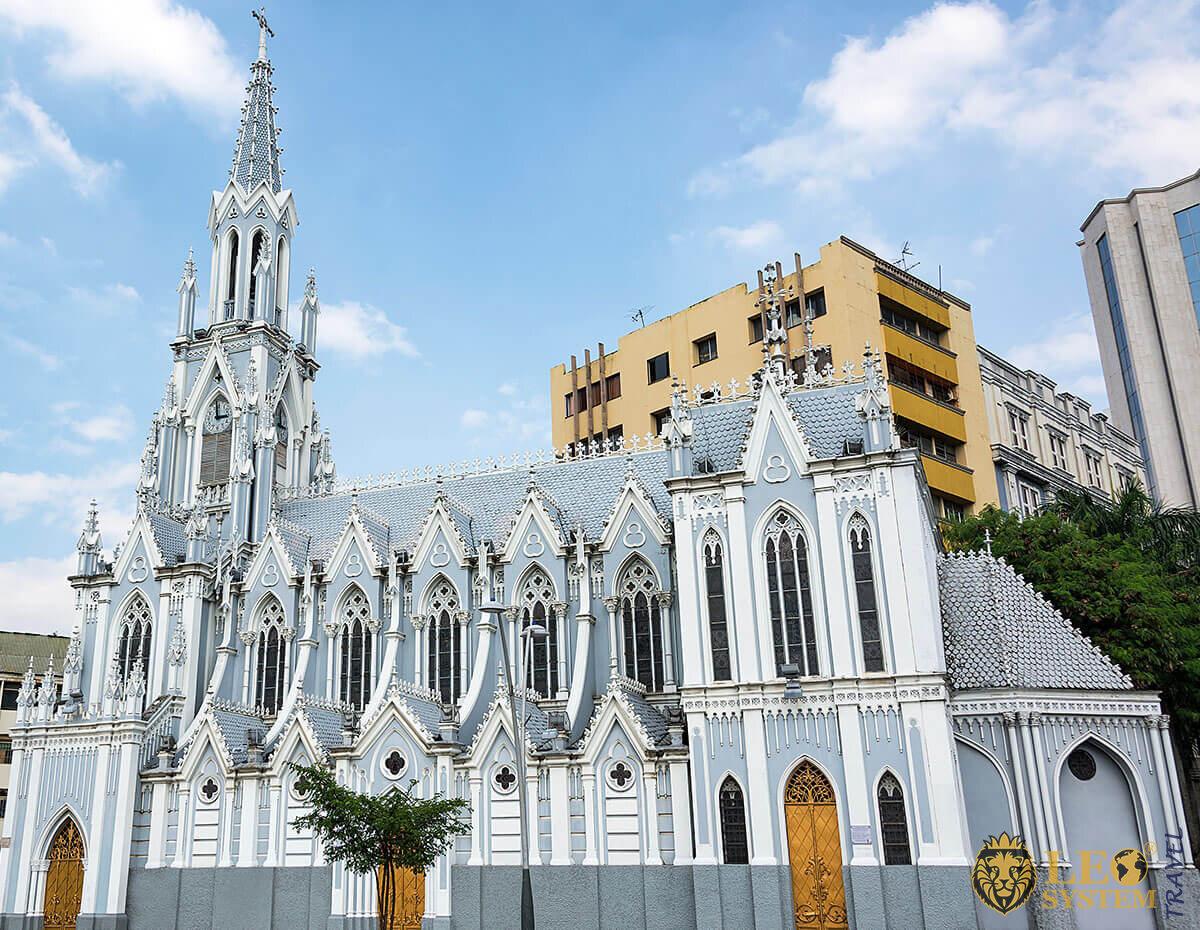 View of La Ermita Church in Cali, Colombia