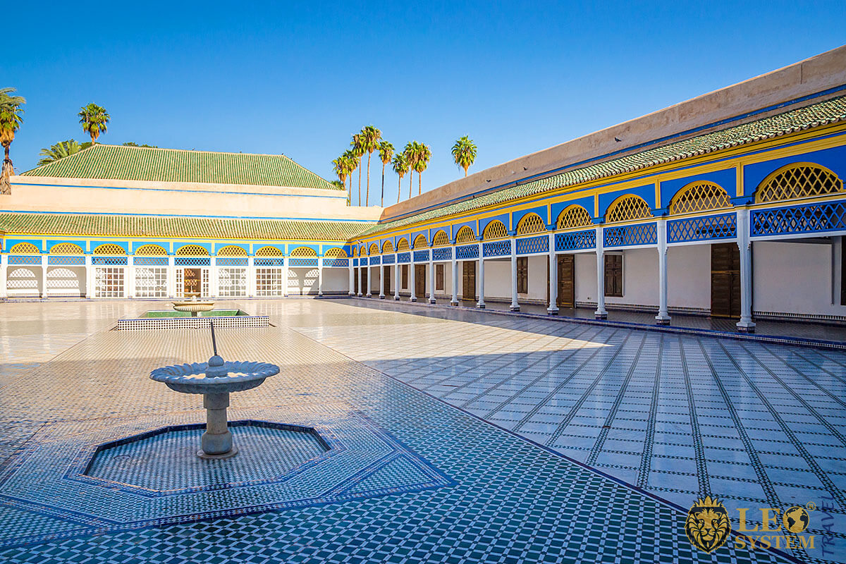 Image of Bahia Palace, city of Marrakesh, Morocco