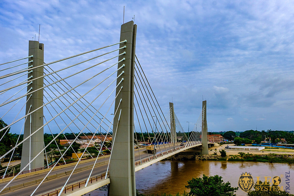 Image of a modern road bridge, city of Benguela, Angola