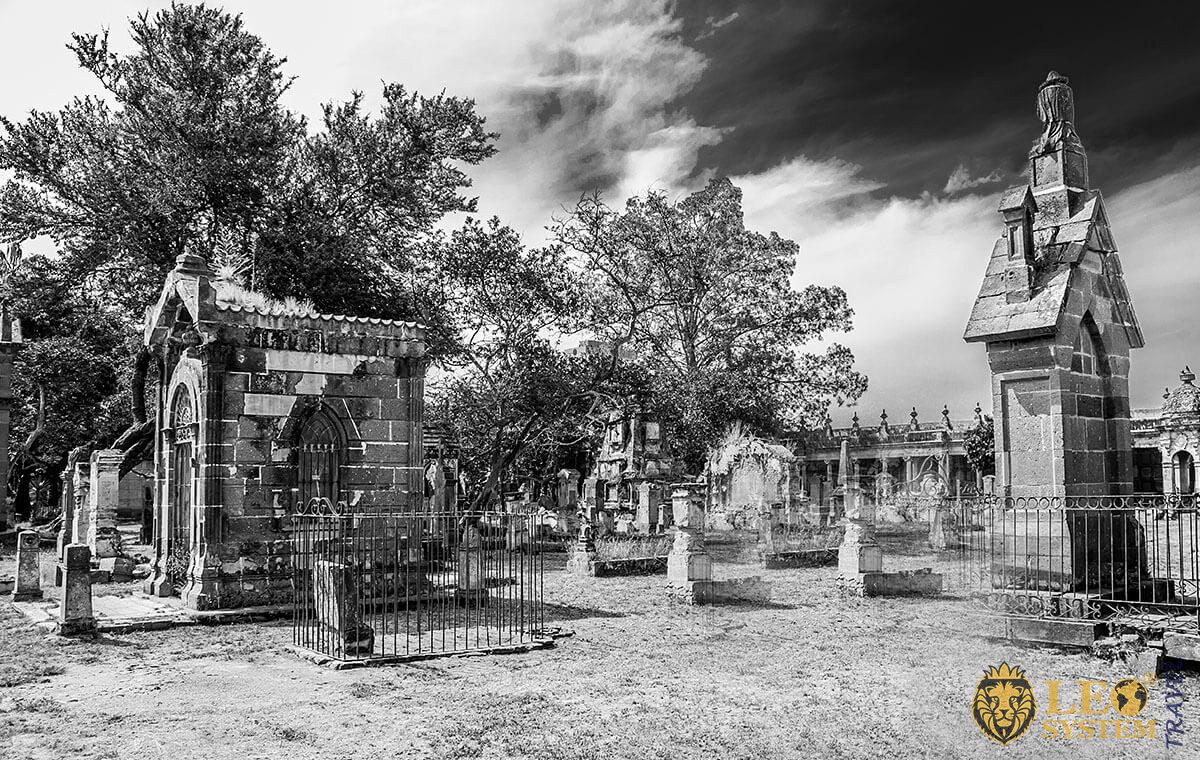 View of the Belen Cemetery, city of Guadalajara