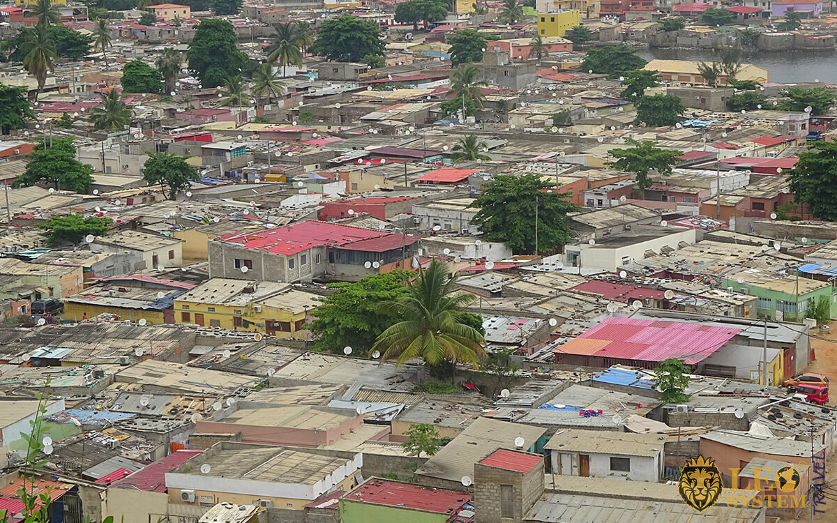 Panoramic view of the city, buildings, houses, Benguela, Angola