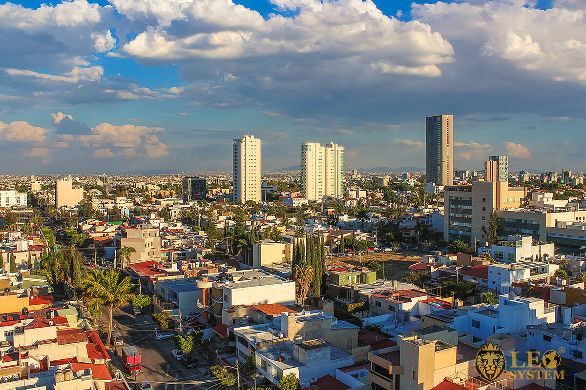 Panoramic view of the city of Guadalajara, Mexico