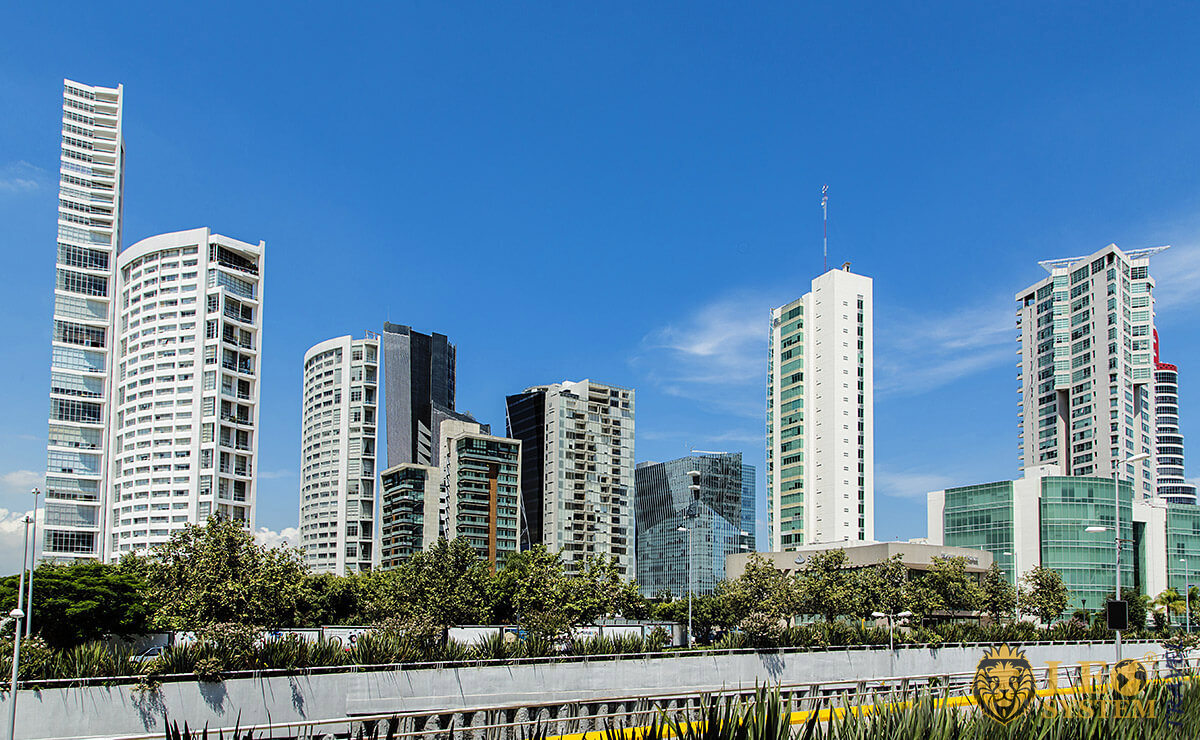 Image of infrastructure and tall buildings, Guadalajara, Mexico