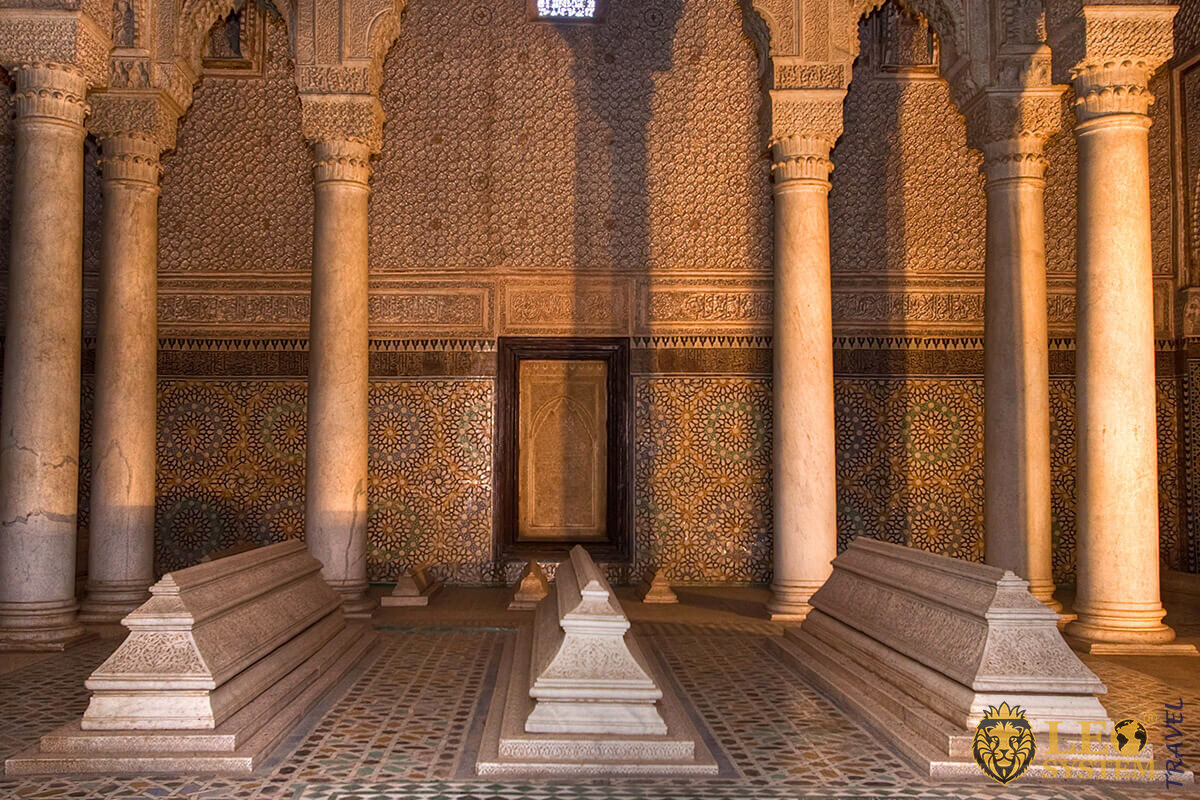 Saadien's Tombs is a historic royal necropolis in Marrakesh, Morocco
