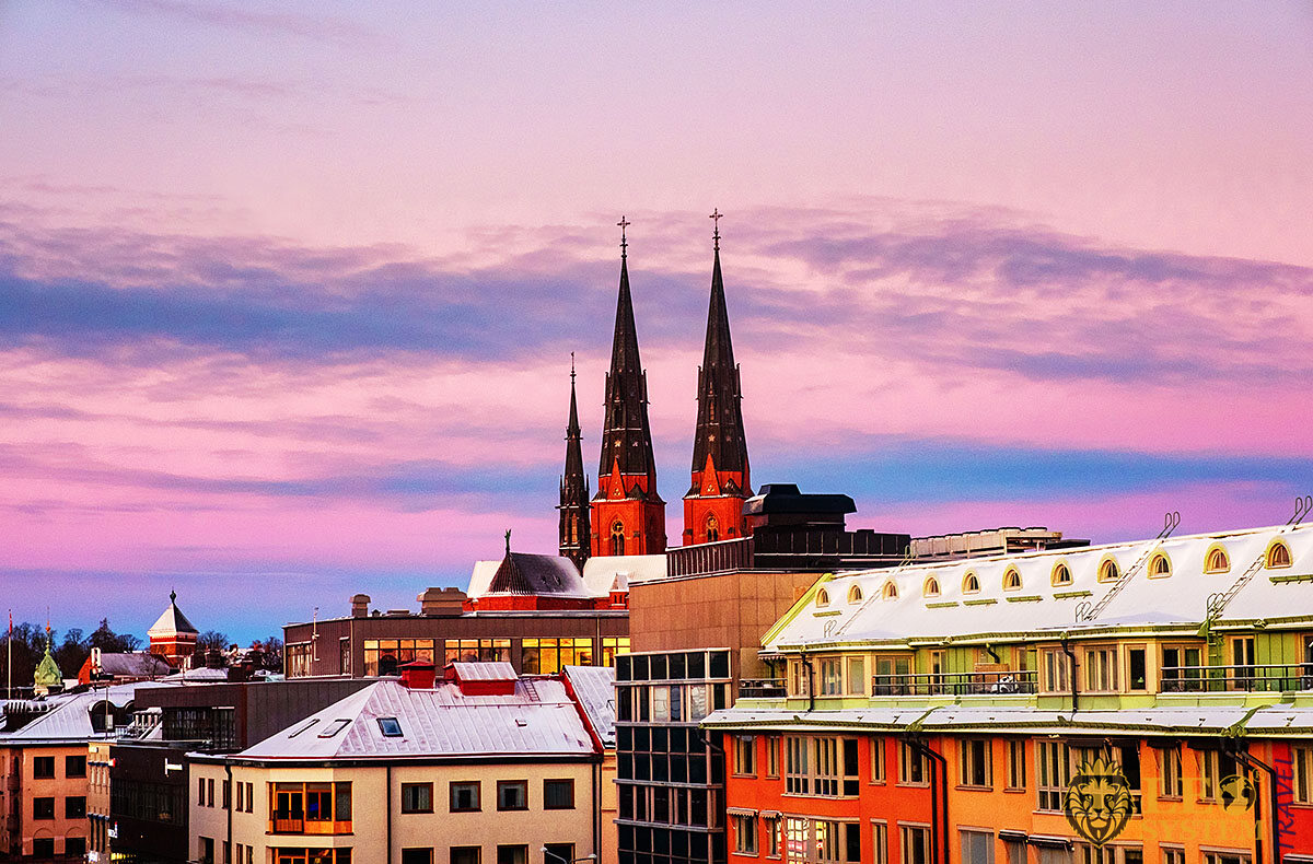 Image of the historic buildings and architecture of Uppsala city