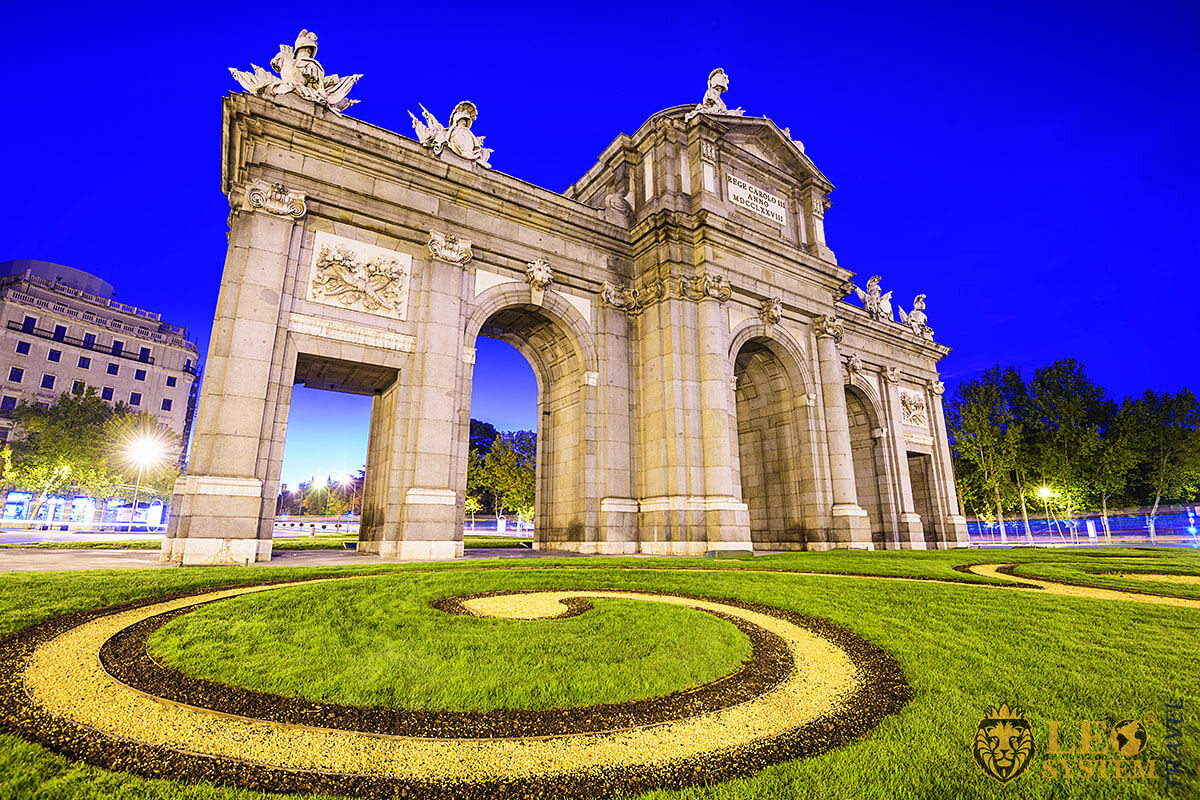 View of the Puerta de Alcala, Madrid, Spain