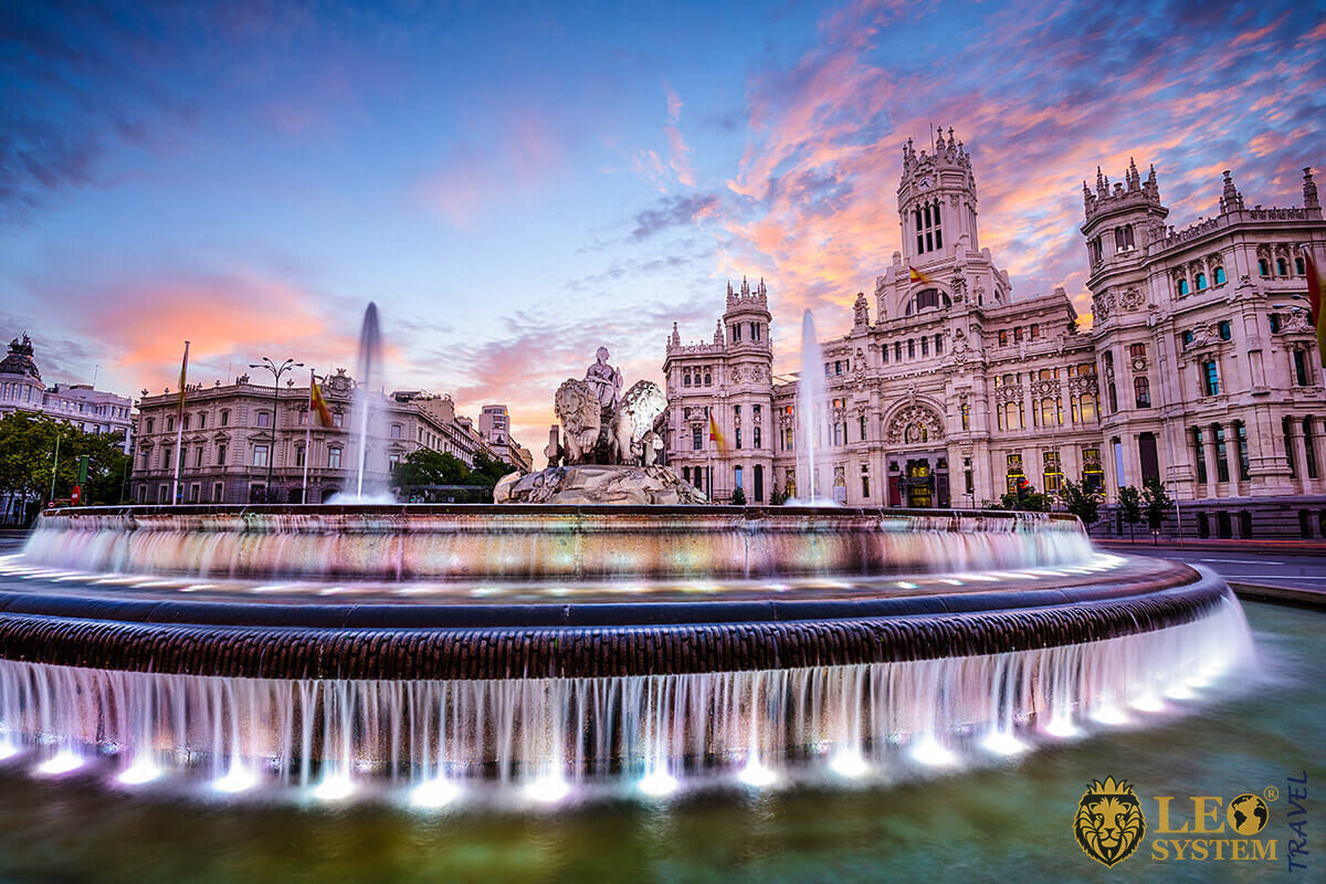 Image of the Plaza de Cibeles is Madrid's most famous square, Spain