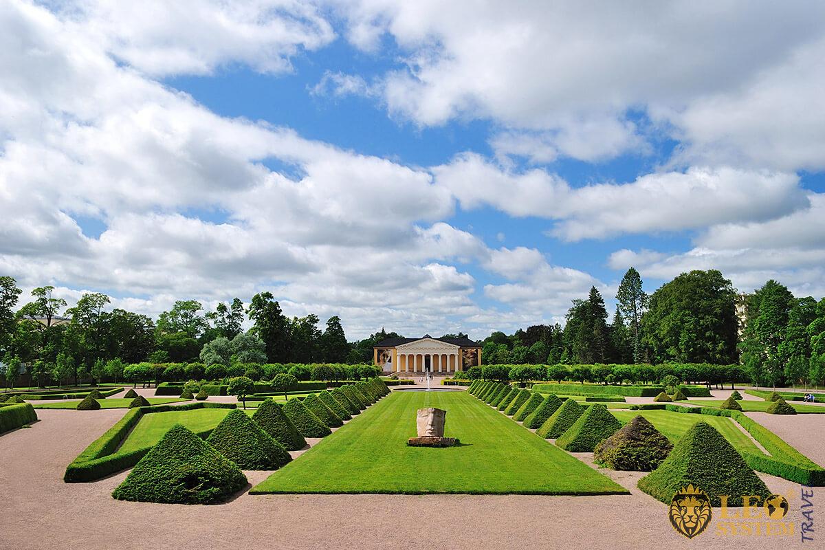 View of the Botanical Garden of the University, city of Uppsala, Sweden