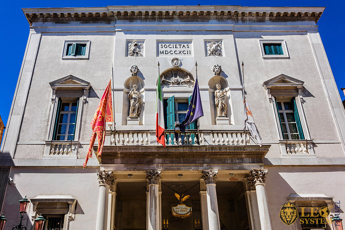 Image of the popular landmark Teatro la Fenice, Venice
