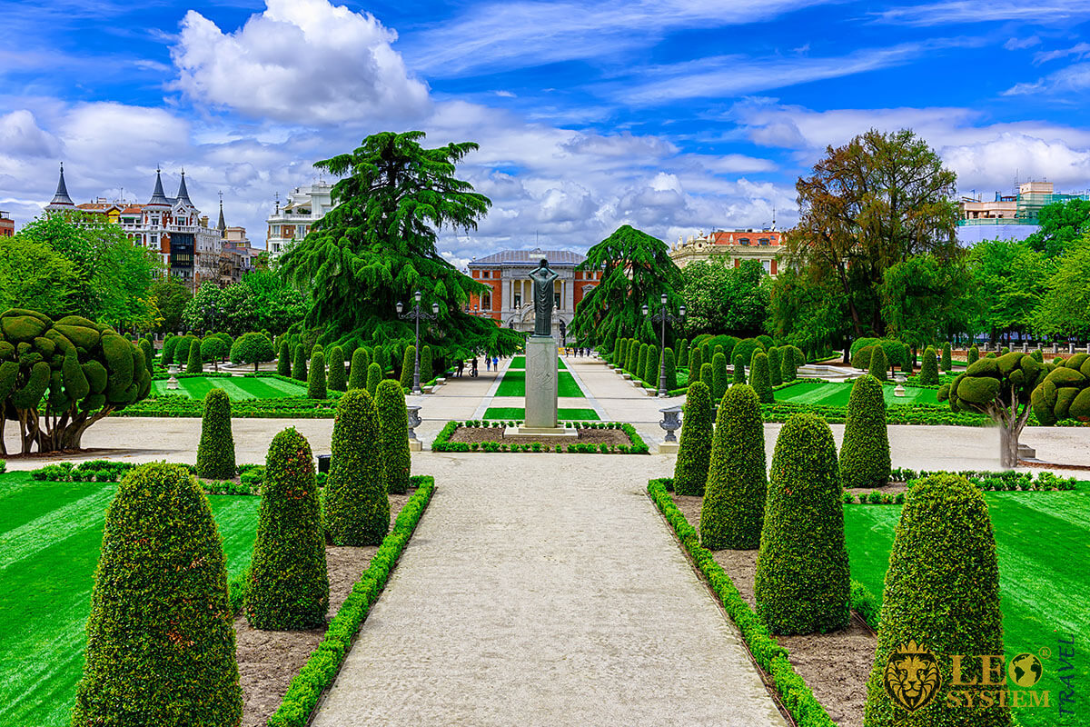 View of the Retiro Park is one of the largest parks of the city of Madrid