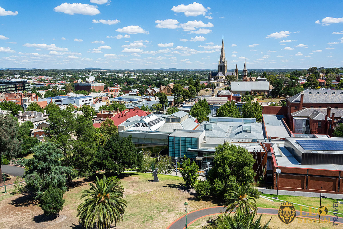 Panoramic view of the city of Bendigo, state of Victoria