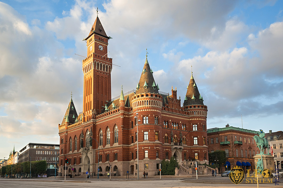 View of the Helsingborg City Hall-Radhuset