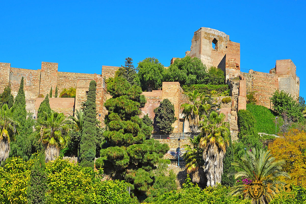 View of the Alcazaba of Malaga, Spain