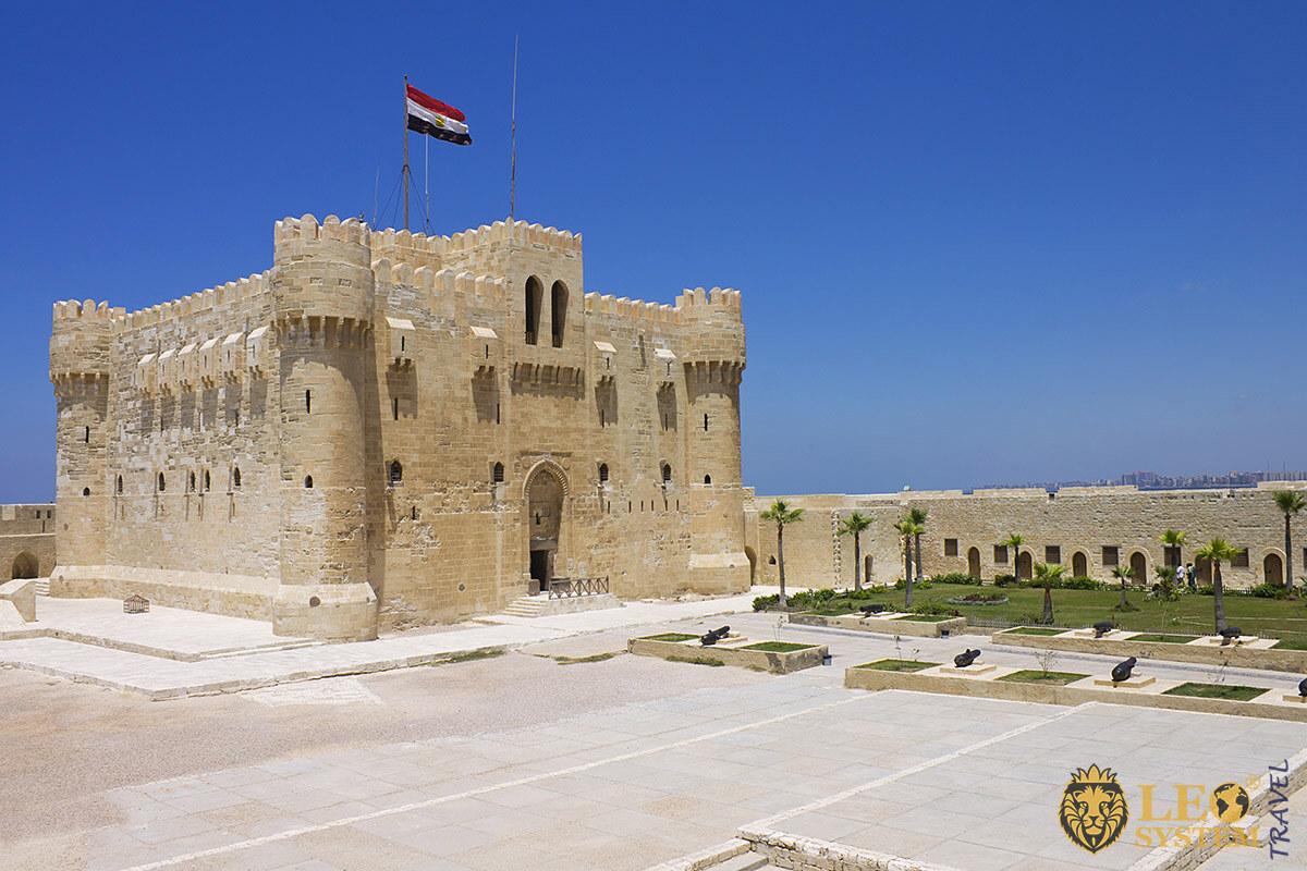 View of the Citadel of Qaitbay, city of Alexandria