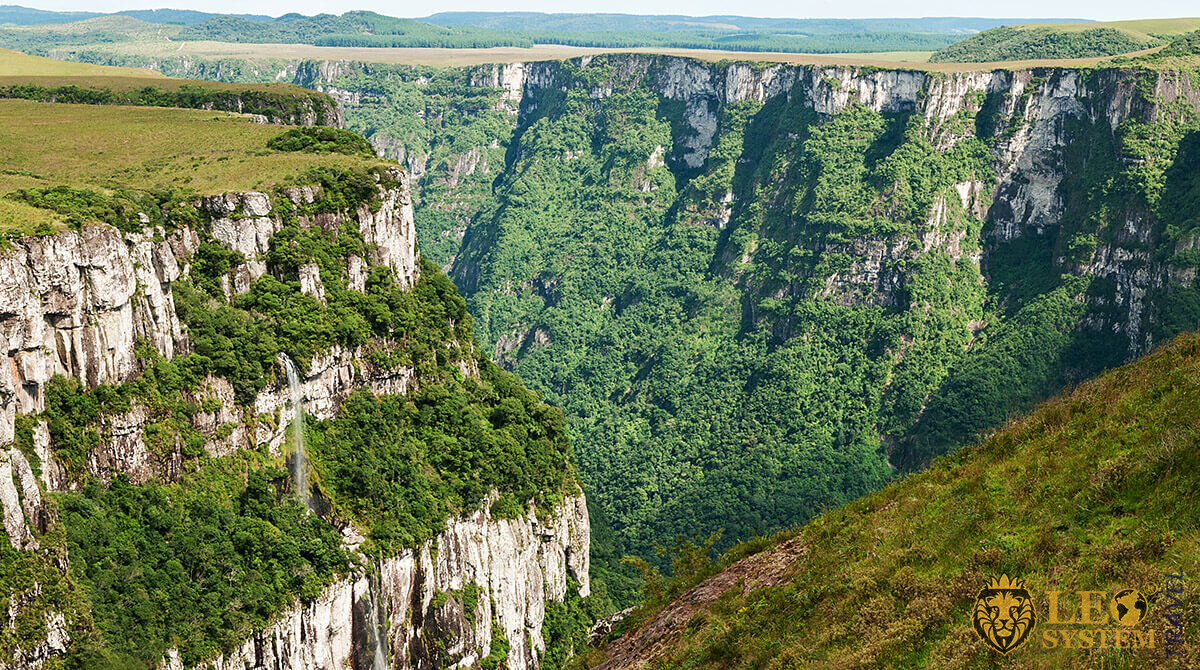 Magnificent view of the canyon, Fortaleza, Brazil