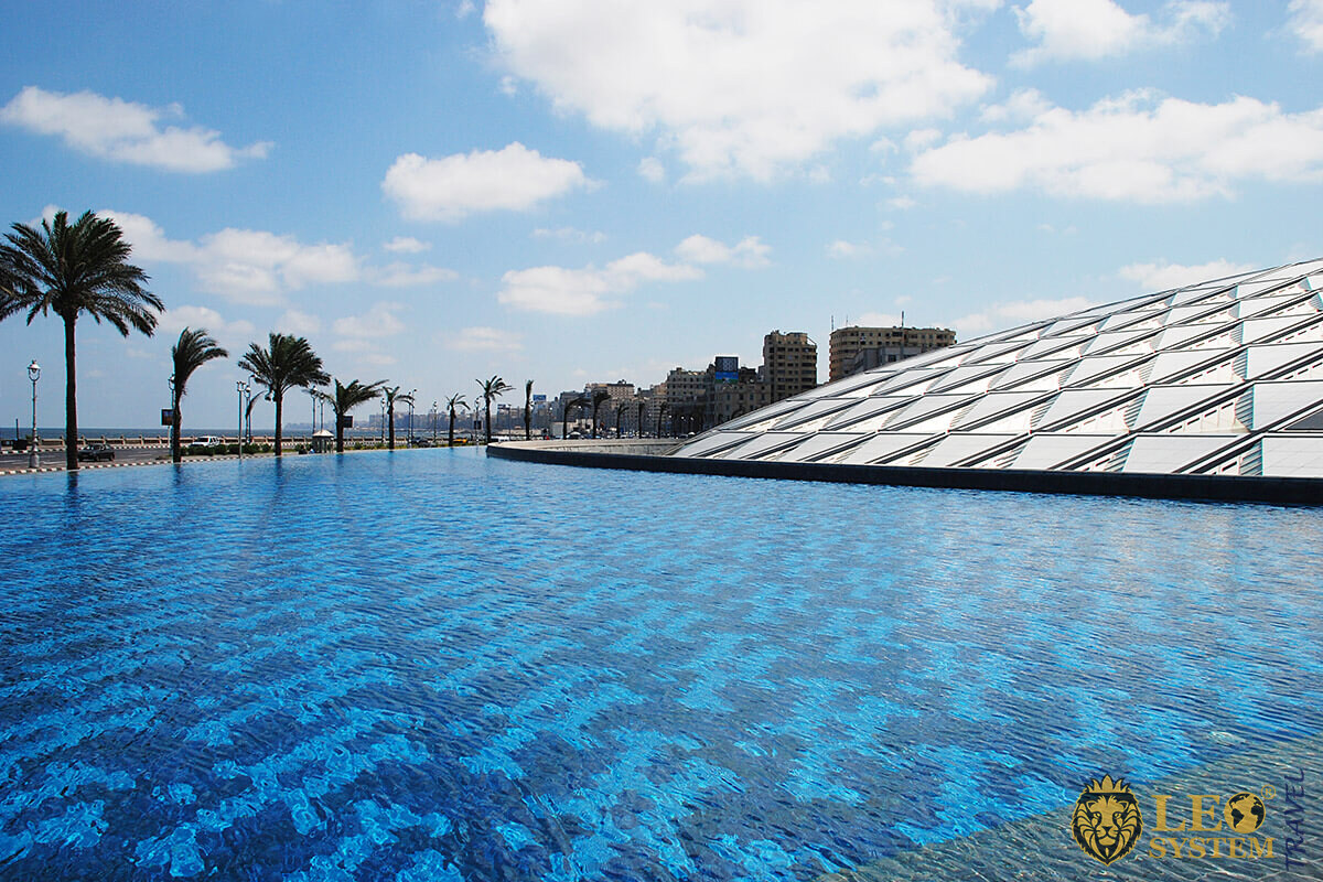 Image of New Library of Alexandria in Egypt