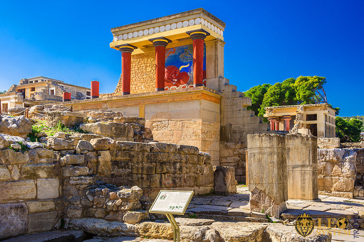 View of the ruins of Minoan Palaces, Greece