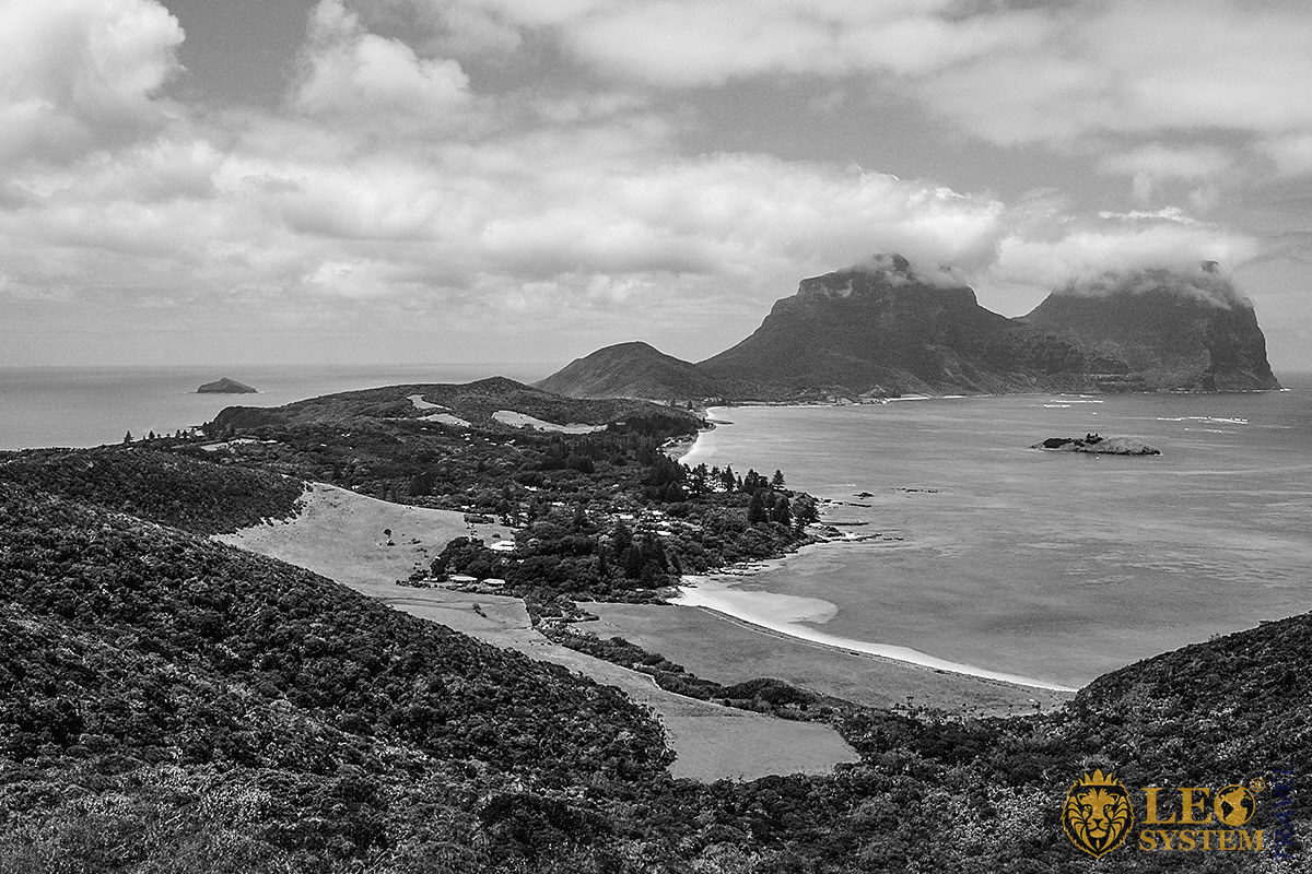 Image of the unique landscape of Lord Howe Island