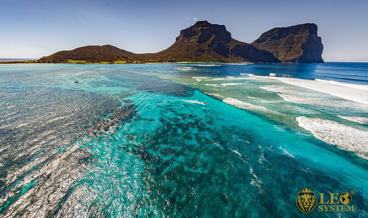 Magnificent view of the volcanic Island of Lord Howe, Australia