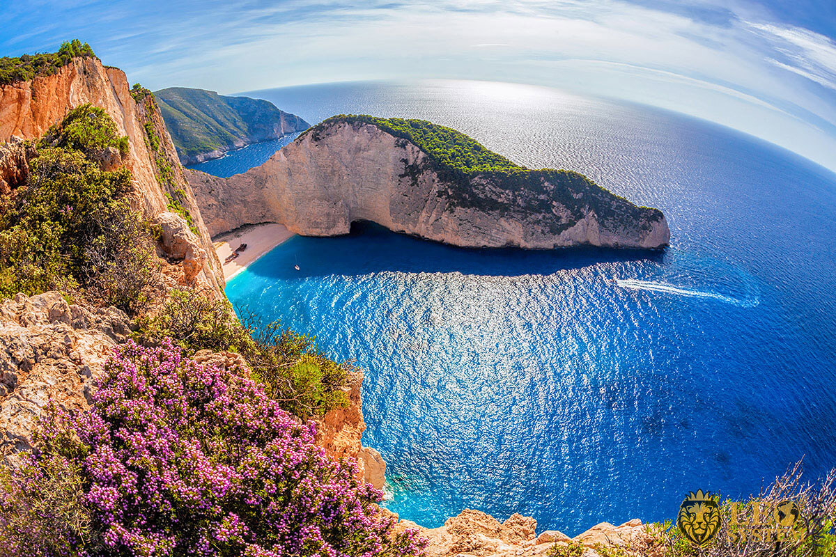 Magnificent view of the Beach Navagio, island of Zakynthos, Greece