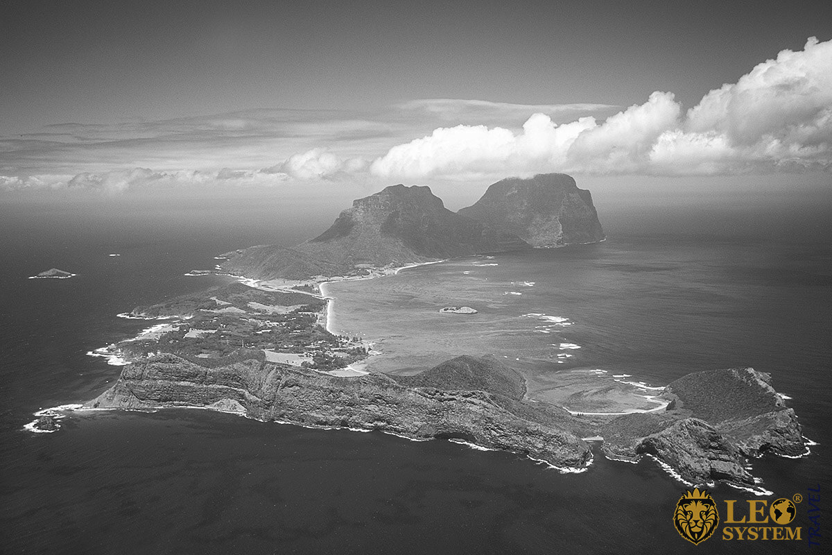 Spectacular aerial view of Lord Howe Island, Australia