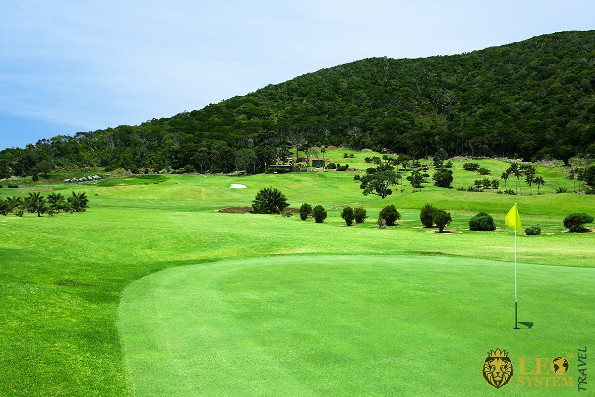 Image of a golf course on Lord Howe Island, Australia