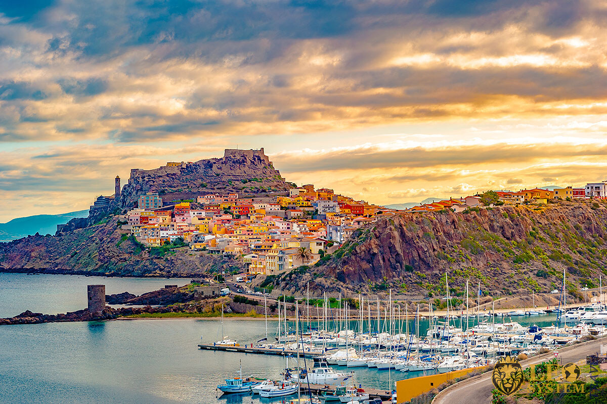 Beautiful landscape view of the island of Sardinia