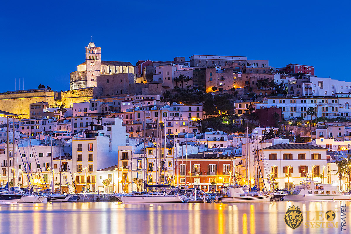Image of architecture of houses and buildings on the island of Ibiza