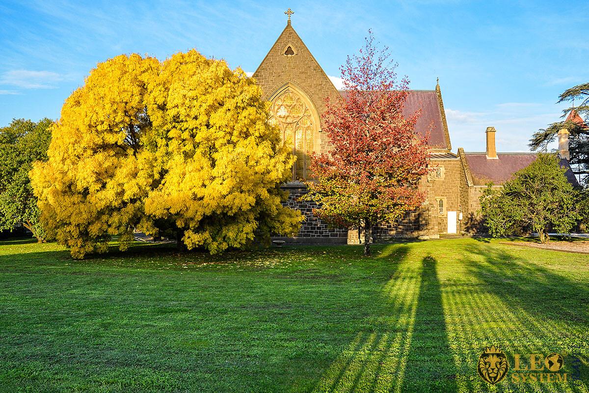 Beautiful autumn landscape in the city of Ballarat, Australia