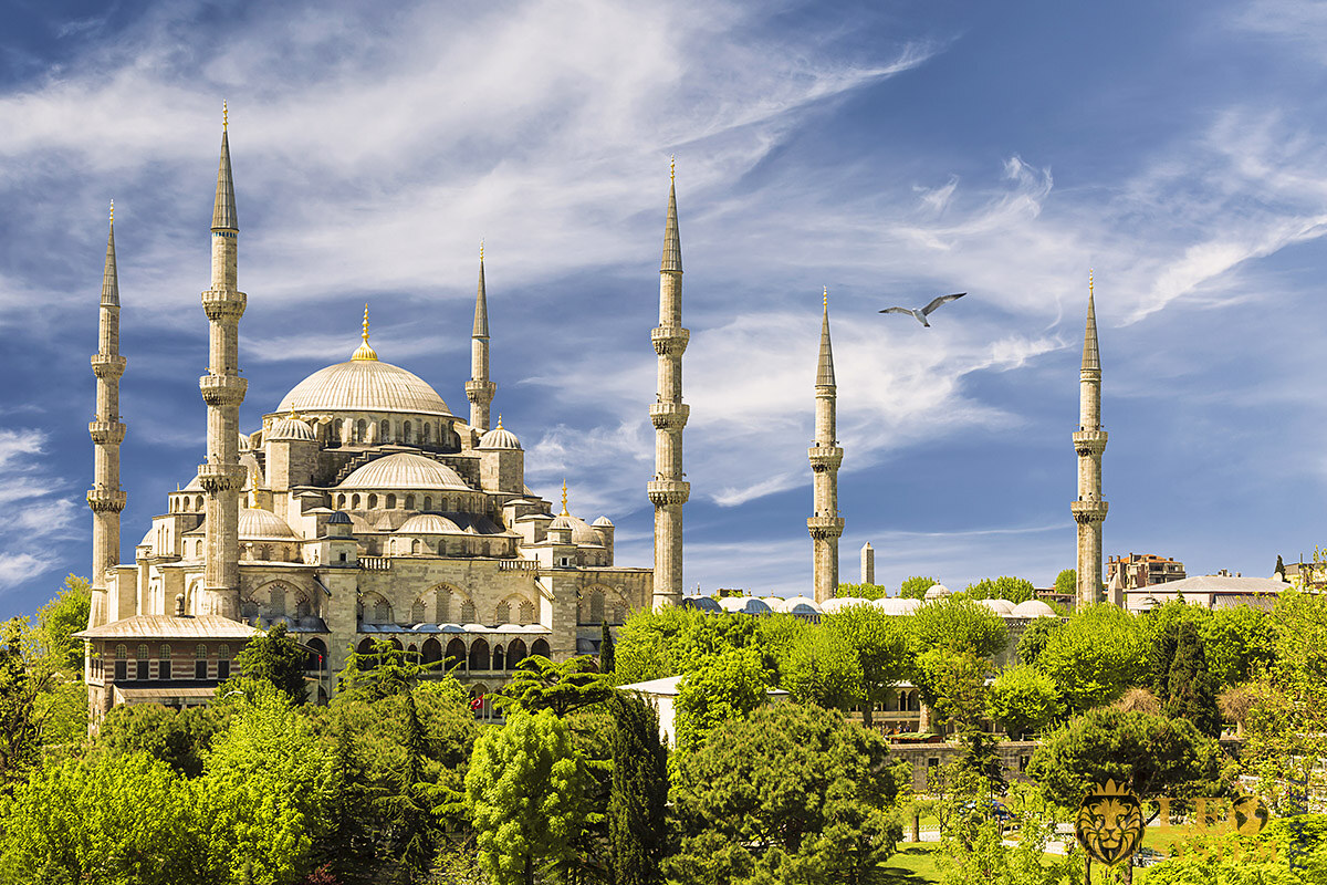 Nice view of the Sultan Ahmed Mosque, Istanbul, Turkey