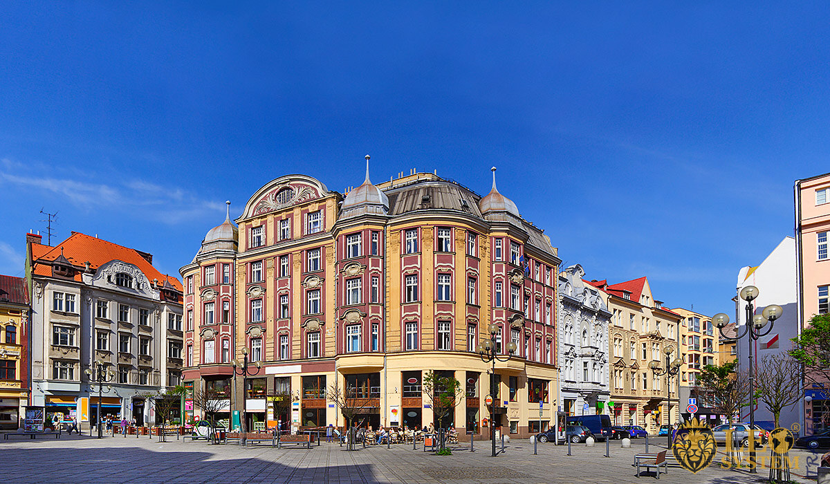 Image of city buildings and architecture, city of Ostrava
