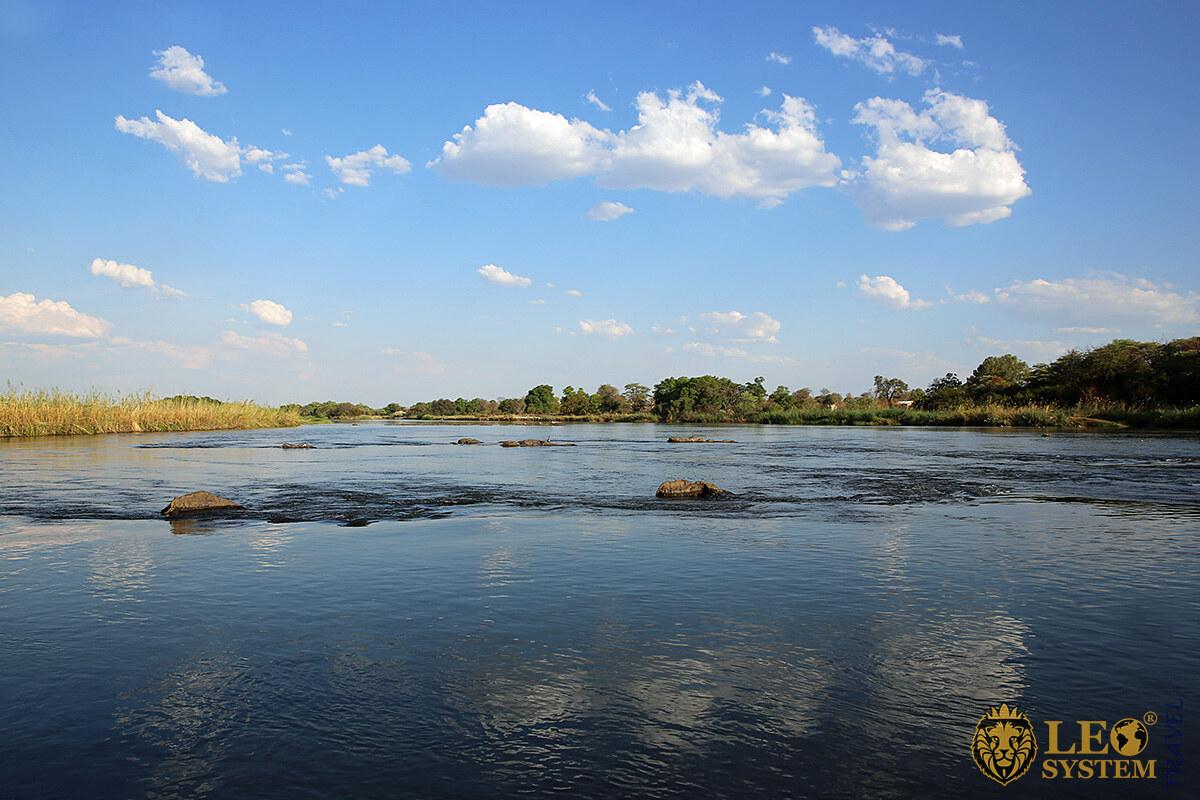 View of the Okavango River, Africa