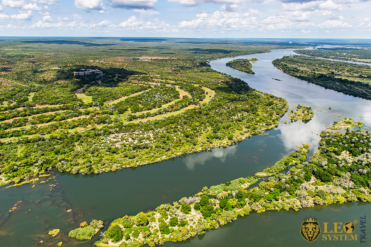 View of the Zambezi River, Continent of Africa