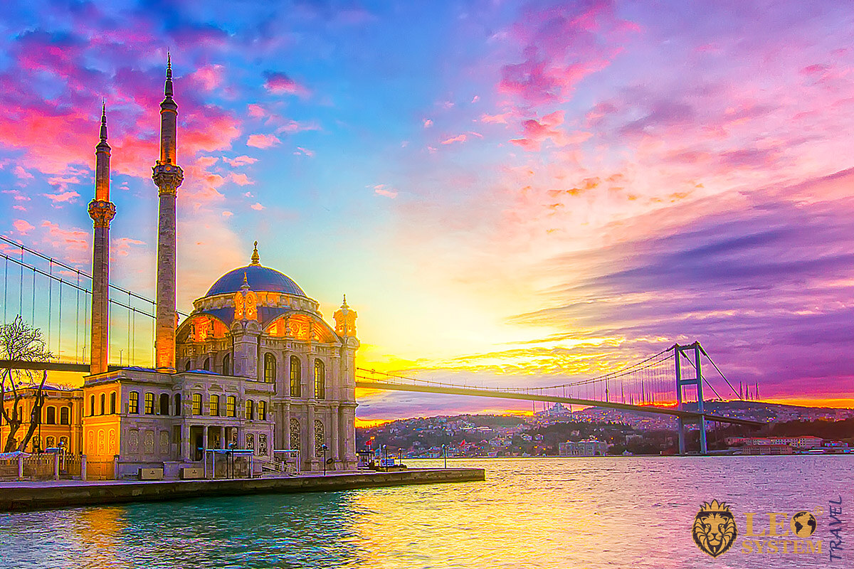 Wonderful view of the Bosporus Strait of Istanbul, Turkey
