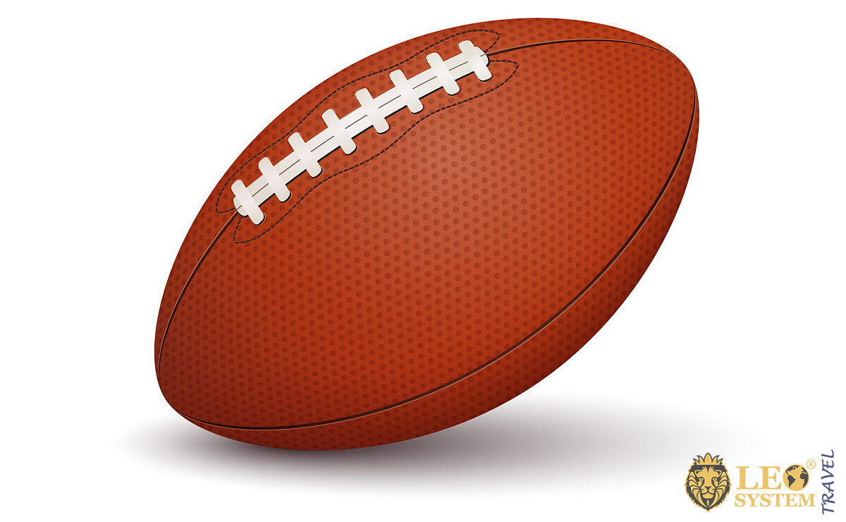 Image of a ball for playing Australian football